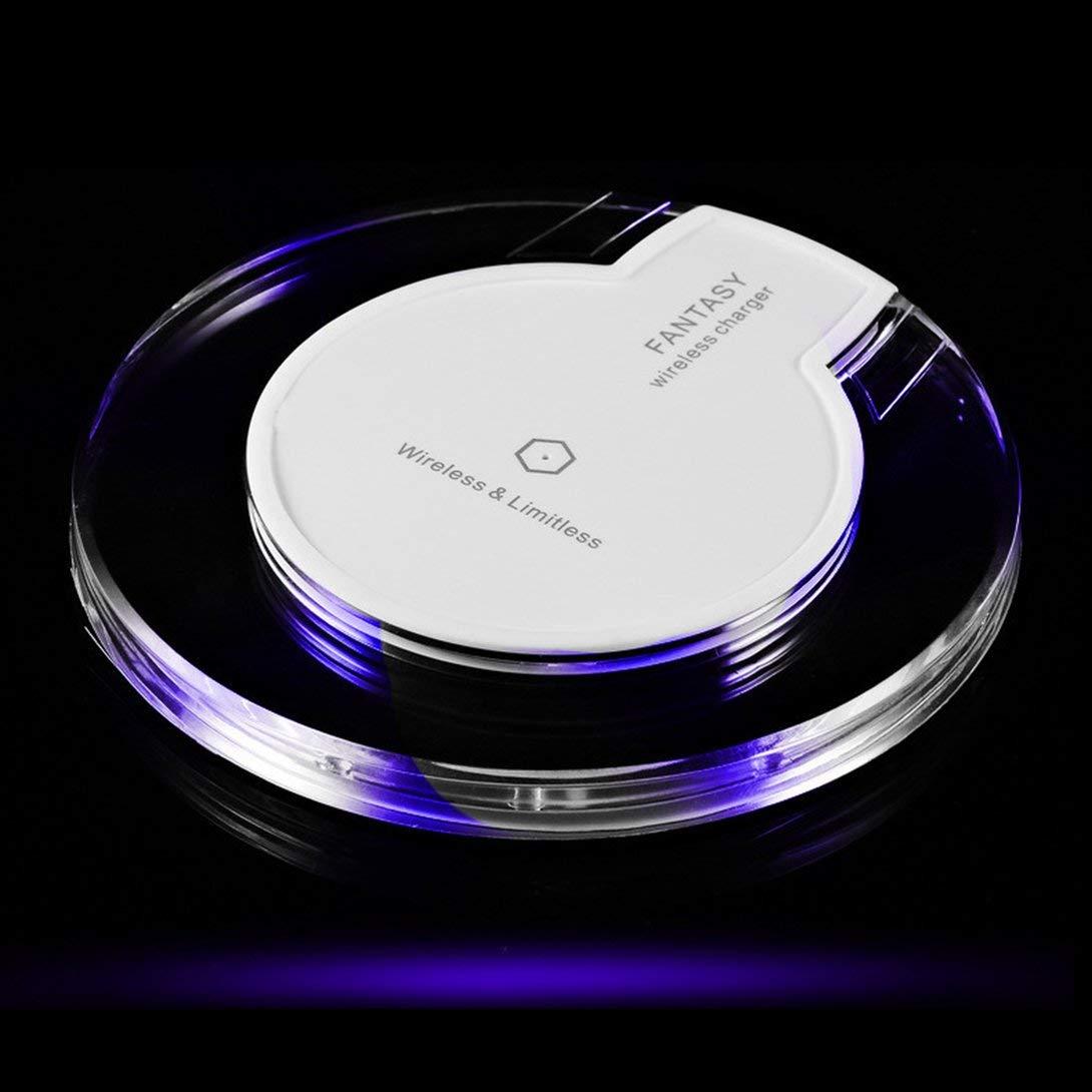 Swiftswan - Chargeur de Dock de Chargement sans Fil en Cristal avec Chargeur Rond pour ré cepteur pour iPhone Samsung