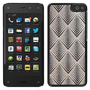 Caucho caso de Shell duro de la cubierta de accesorios de protección BY RAYDREAMMM - Amazon Fire Phone - art deco modelo marrón pintado retro