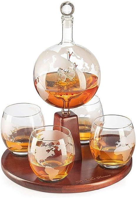 AUZZO HOME Decantador de Whisky, Set de Decantador de Vino de ...