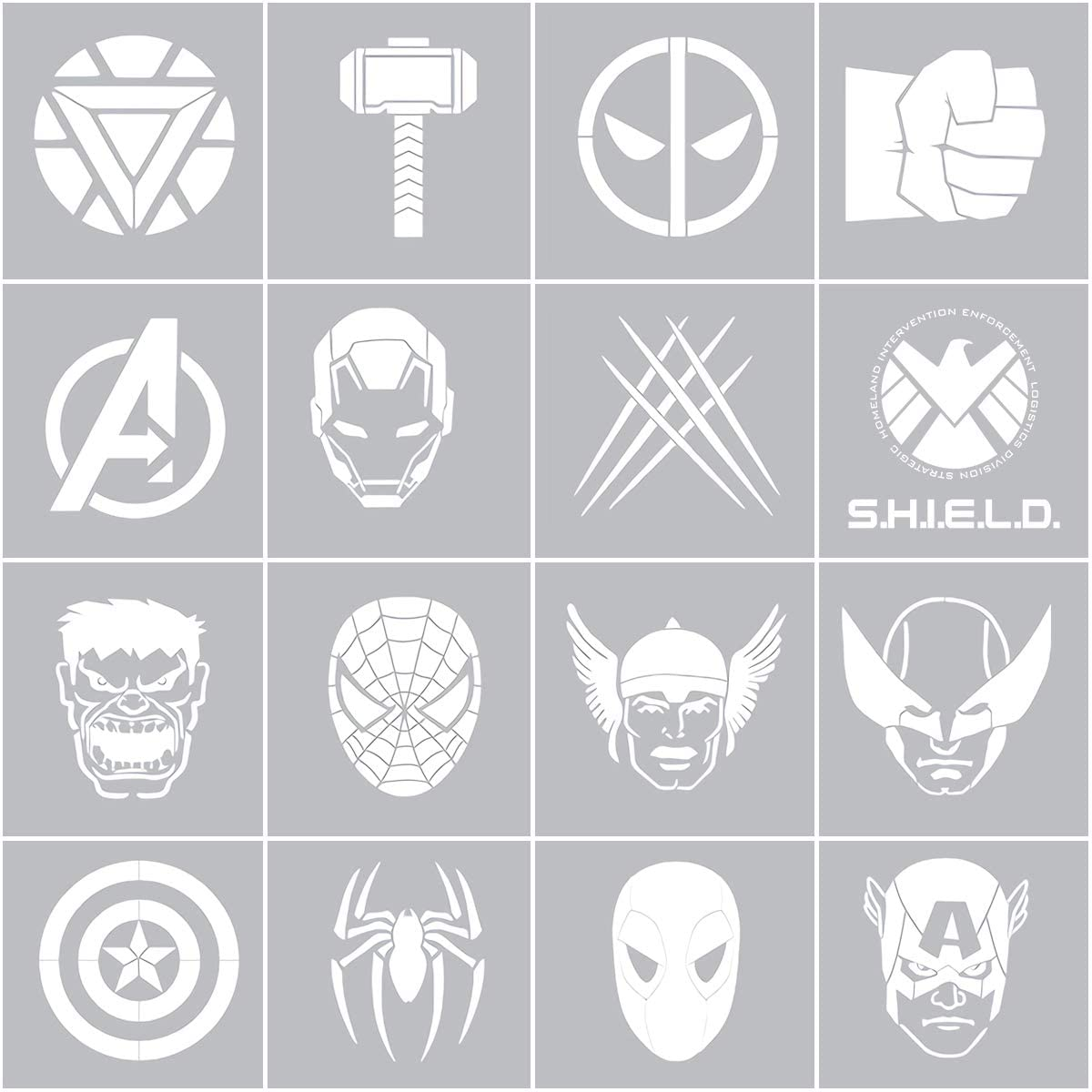 Super Hero Stencils