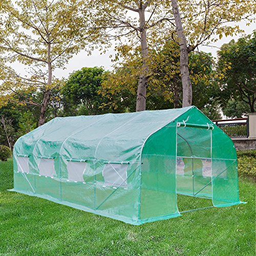 Z ZTDM 20' x 10' x 7' Outdoor Large Green House