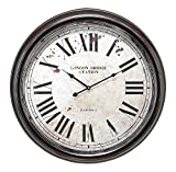 Cheap Deco 79 Metal Wall Clock with Big Size Roman Numbers
