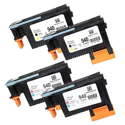 caidi 4 Pack Cabezal De Impresión para HP 940 Cabezal de impresión ...