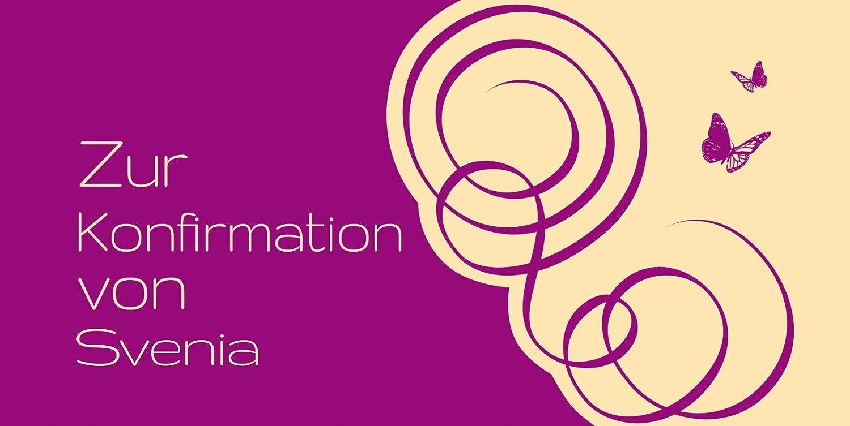 Kartenparadies Einladungskarte Konfirmation Butterfly, Butterfly, Butterfly, hochwertige Einladung zur Konfirmationsfeier inklusive Umschläge   10 Karten - (Format  215x105 mm) Farbe  Rosalila B01N39FFKV | Wunderbar  | Elegante Und Stabile Verpackung  | Sehr gute Farbe eca859