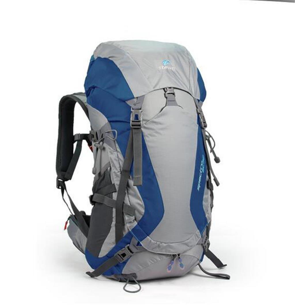ハイキングバッグ バックパックの登山バッグ50 lのレスビアンのサスペンションは、通気性防水ポータブル屋外の旅行バックパックに乗って ばっくぱっくのとざんばっぐ50 lのれすびあんのさすぺんしょんは、つうきせいぼうすいぽ゜たぶるおくがいのりょこうばっくぱっくにのって ハイキングバックパック ( 色 : シーブルー , サイズ さいず : 48L ) 48L シーブルー B07C9RXPMM