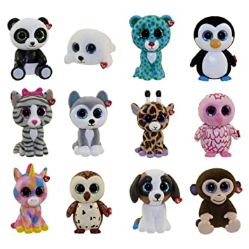 TY Mini Boos Boos Collectable Mini Figures - 12 Piece Set of Series 1
