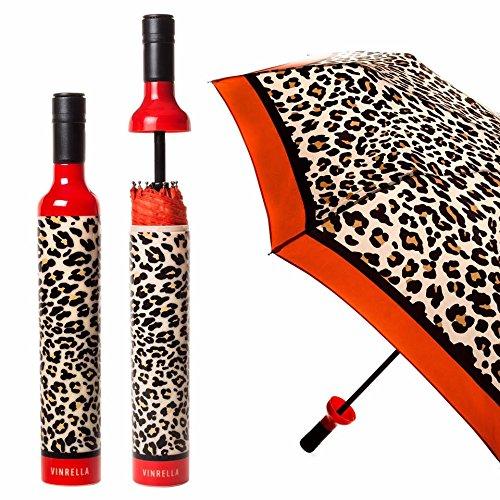 - VINRELLA Wine Bottle Umbrellas, Leopard Print
