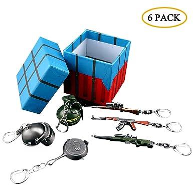 Amazon.com: Juego de llaveros de metal de Pobg con caja de ...