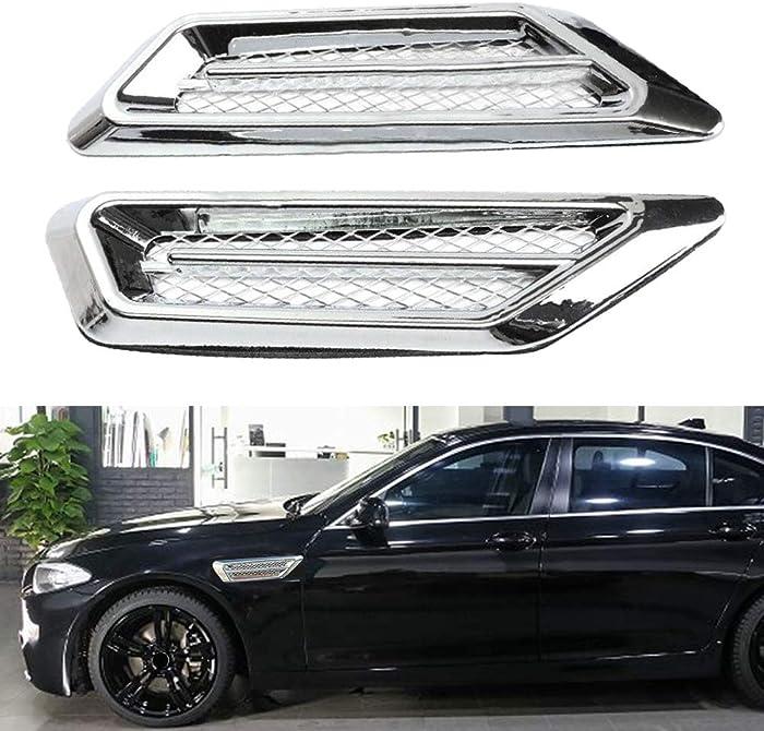 The Best Chrome Car Air Flow Fender Side Vent Decor