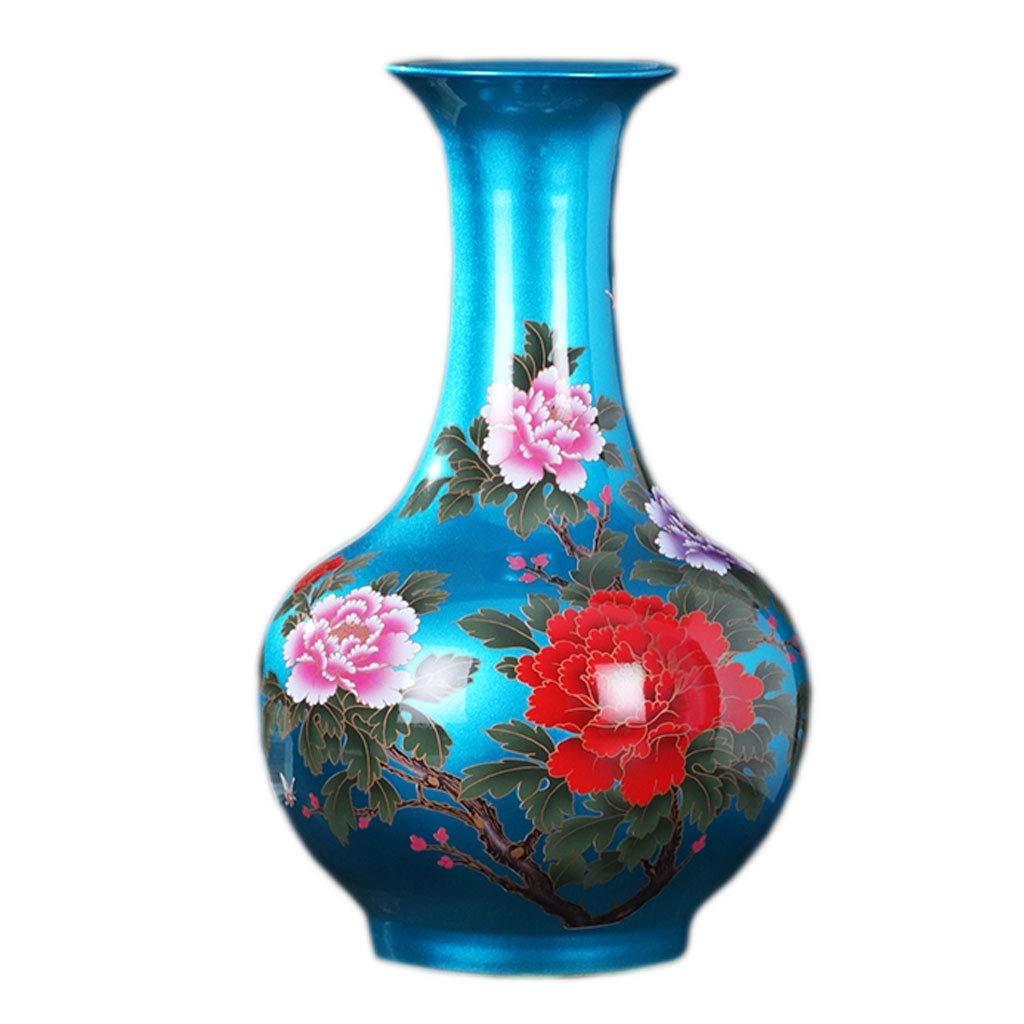 円柱装飾花瓶 花瓶AXZHYYZ19060605セラミッククリスタル現代のフラワーアレンジメント磁器花瓶小さな花瓶家の装飾11×24×38センチ 写真円柱装飾花瓶ライフ花瓶フラワーショップブーケボックス B07STFC12F