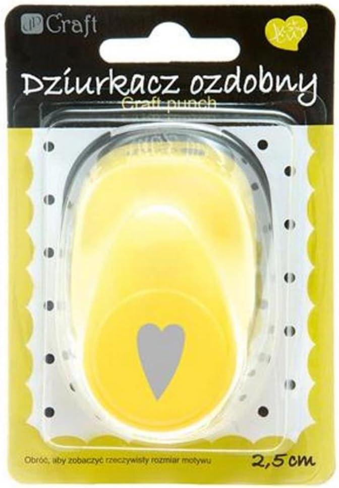 Motivlocher Stanzer Punch Hebelstanzer 2,5cm Herz Heart verrzerrt Kreativ Basteln Dekorieren
