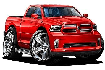2017 Dodge Ram 1500 >> 2015 2017 Dodge Ram 1500 Sport 2ft Long Wall Graphic Decal Sticker Man Cave Garage Decor