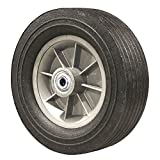 10 Inch Flat Free Hand Truck Tire - Wheel 10'' x 3'' - 2.25'' Centered Hub - 3/4'' Axle Bore - 650 lb