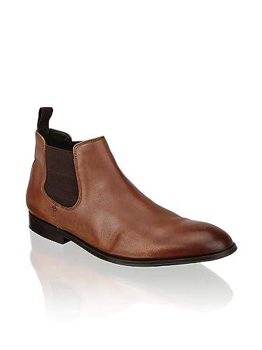 pretty nice 541c0 522db PAT CALVIN, Herren Chelsea Boots, zeitlos eleganter Kurzschaft Stiefel in  Cognac aus feinem Leder