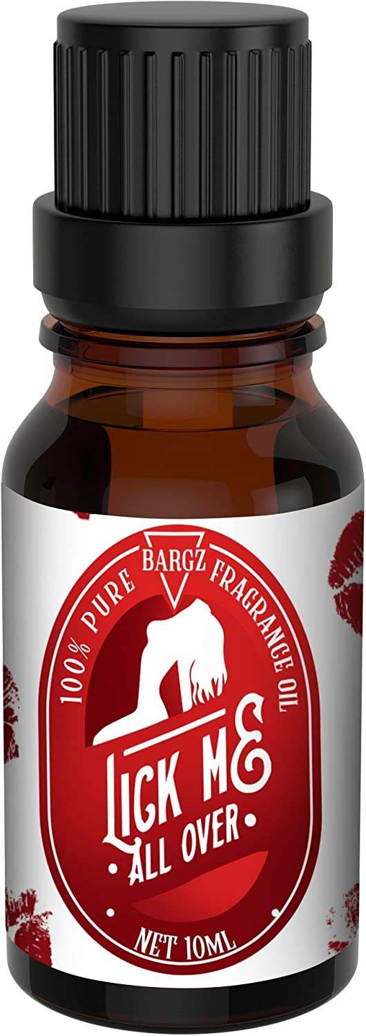 Bargz Lick Me All Over Perfume Oil, Exotic Fragrance, Lovely Raspberry And Melon Aromas With A Touch Of Vanilla - Flat Cap [10 ML]