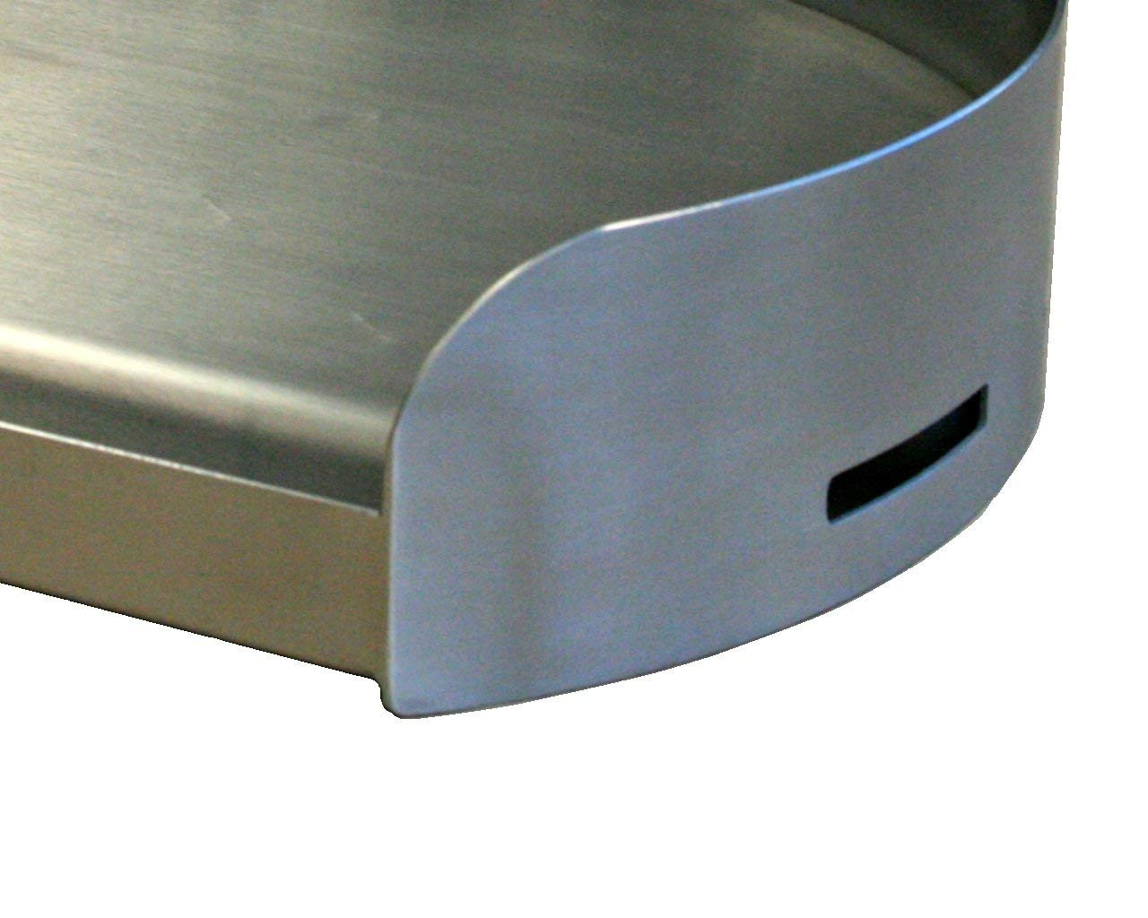 17x 14 x 3.5 inches Renewed Little Griddle KQ17R 100 Percent Stainless Steel Round Griddle with Even Heating Cross Bracing for Charcoal//Gas Grills for Round Grills more than 18 inch Diameter