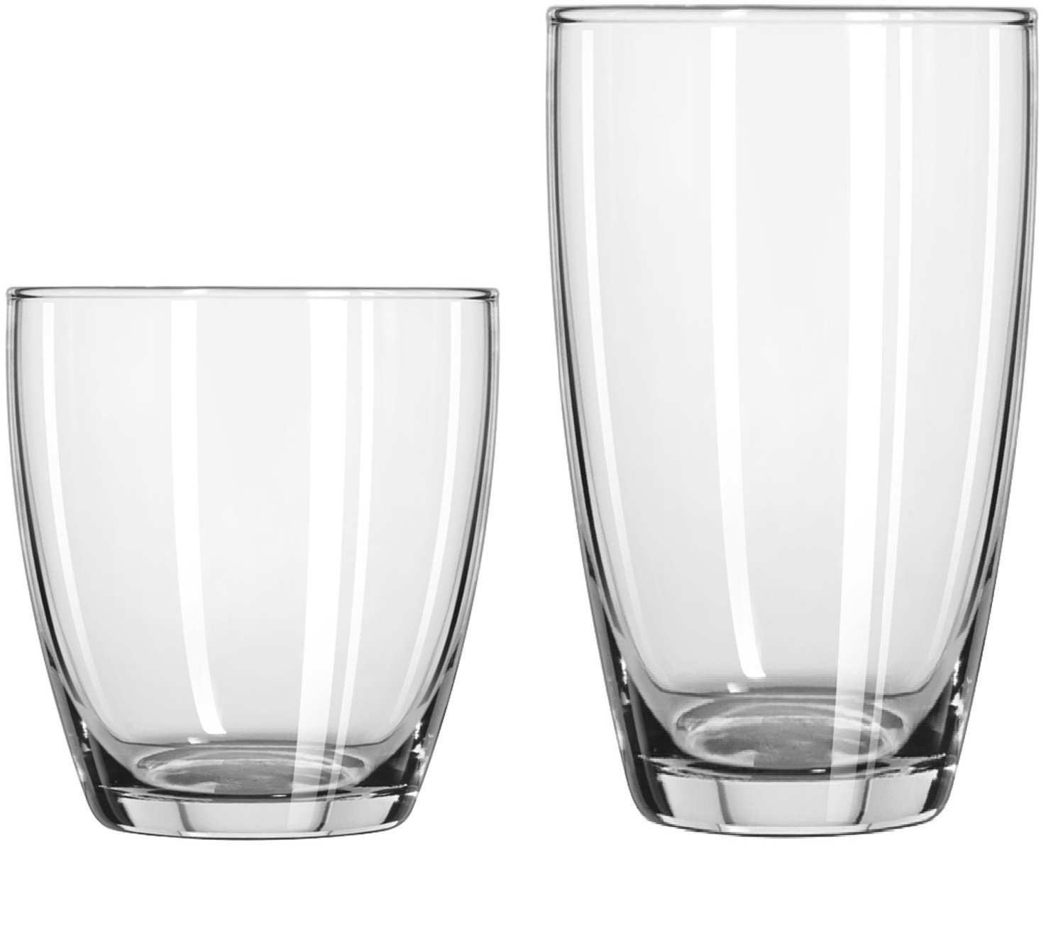 Circleware 44539 Smooth Huge Set of 12, 6-16oz Drinking Glasses & 6-13oz Whiskey Glass, Kitchen Glassware for Water, Beer, Wine Liquor Beverage, 16oz&13oz, Smooth 12pc by Circleware (Image #6)