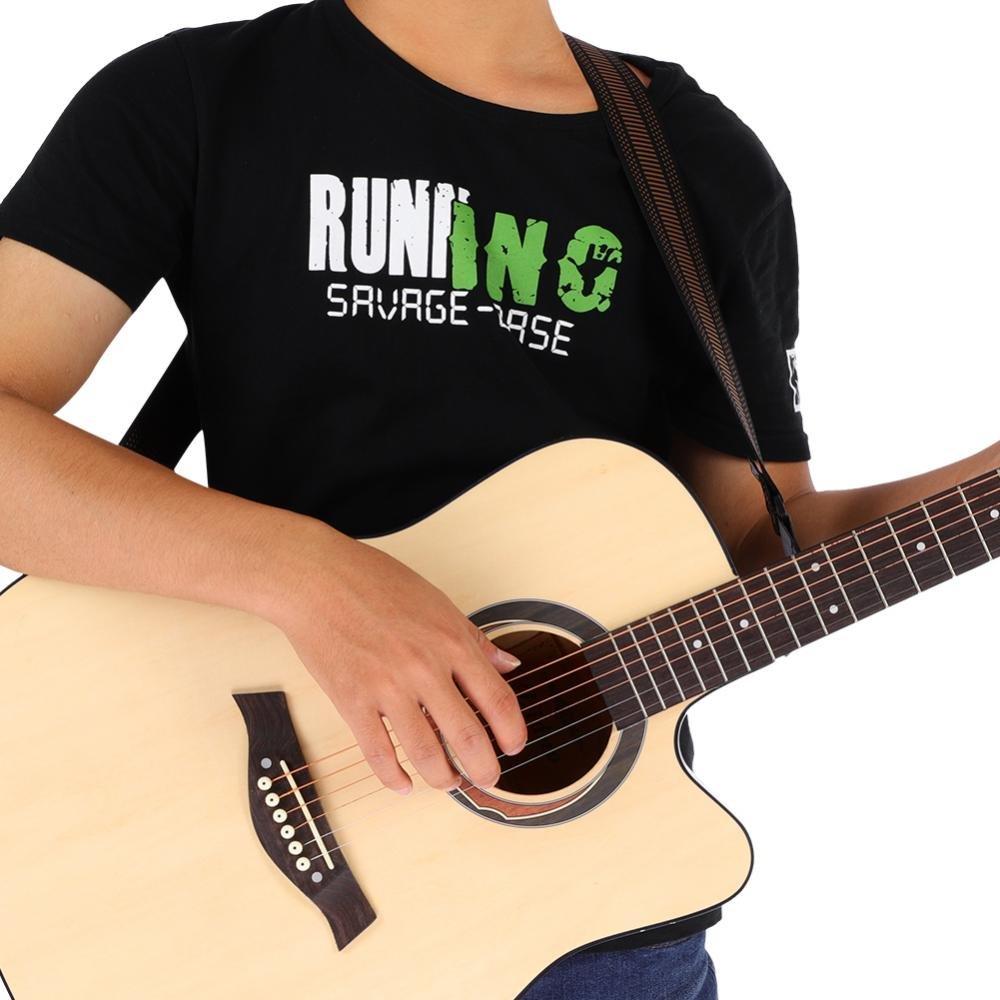 Dilwe Ajustable Nylon Correa de Hombro de Guitarra para Guitarras Eléctricas Folk Guitarra(Marrón): Amazon.es: Deportes y aire libre
