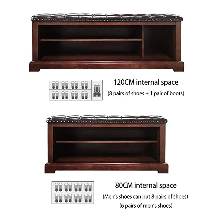 Amazon.com: CXLO Shoe Rack Bench with Cushion Upholstered ...