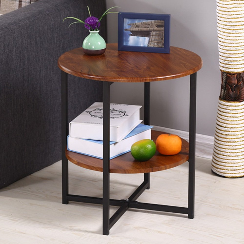E2 LVZAIXI Small Round Table Modern Minimalist Living Room Phone Small Side Table Corner (color   D2)
