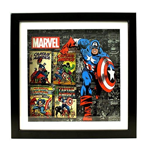 Silver Buffalo MV1406SB Marvel Captain America Shadow Box