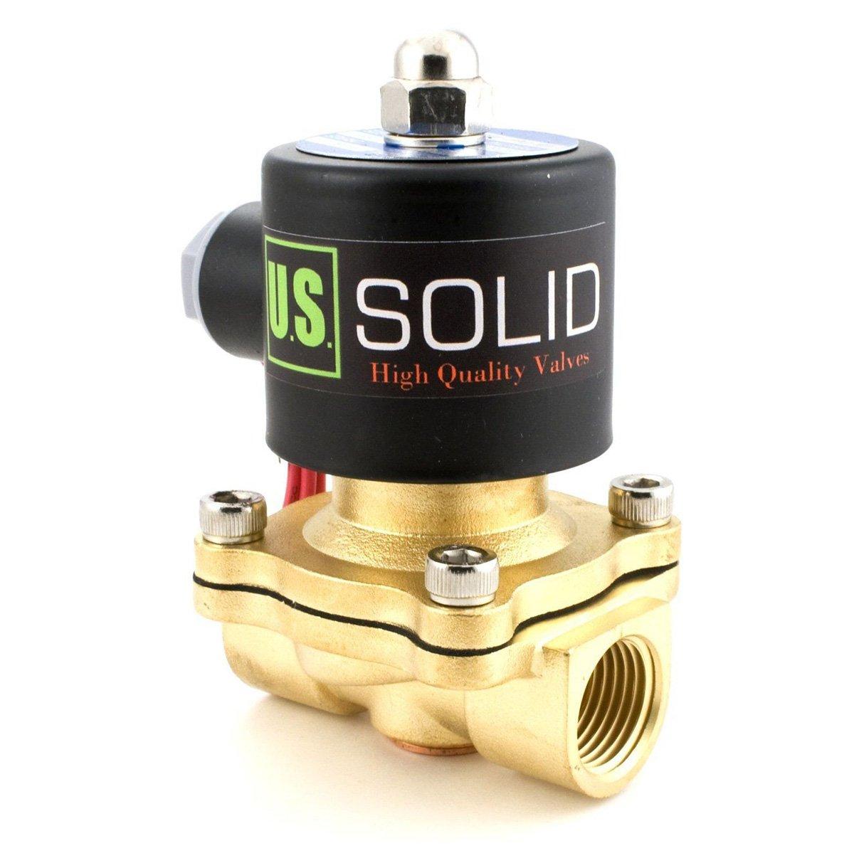 U.S. Solid 1/2' G 220V AC Messing Magnetventil Direktgesteuert fü r Wasser Luft Gas Ö l NC Brass Solenoid Valve