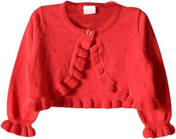 Baby Girls Princess Knit Cardigan Shrug One Button Closure Bolero Sweater Jacket for Dresses Cover up