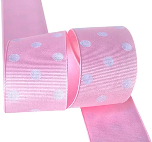 10 Y 7//8 Minnie Mouse With Polka Dot Bow Grosgrain Ribbon U-Pick Color