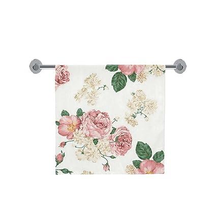 Amor naturaleza personalizado diseño de flores baño cuerpo ducha toalla de baño Wrap para el hogar