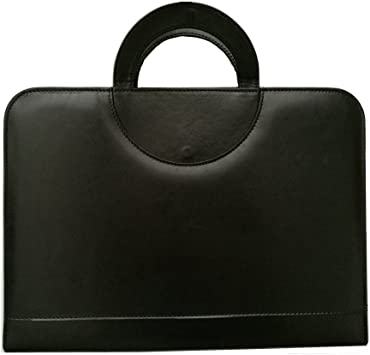 A4 Document File Folder PU Leather Conference Notebook Briefcase Padfolio Office
