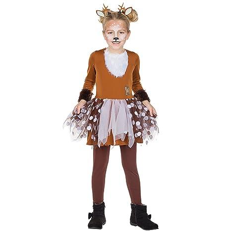 Rubies Niños Traje Cervatillo Bambi Vestido marrón Animal ...