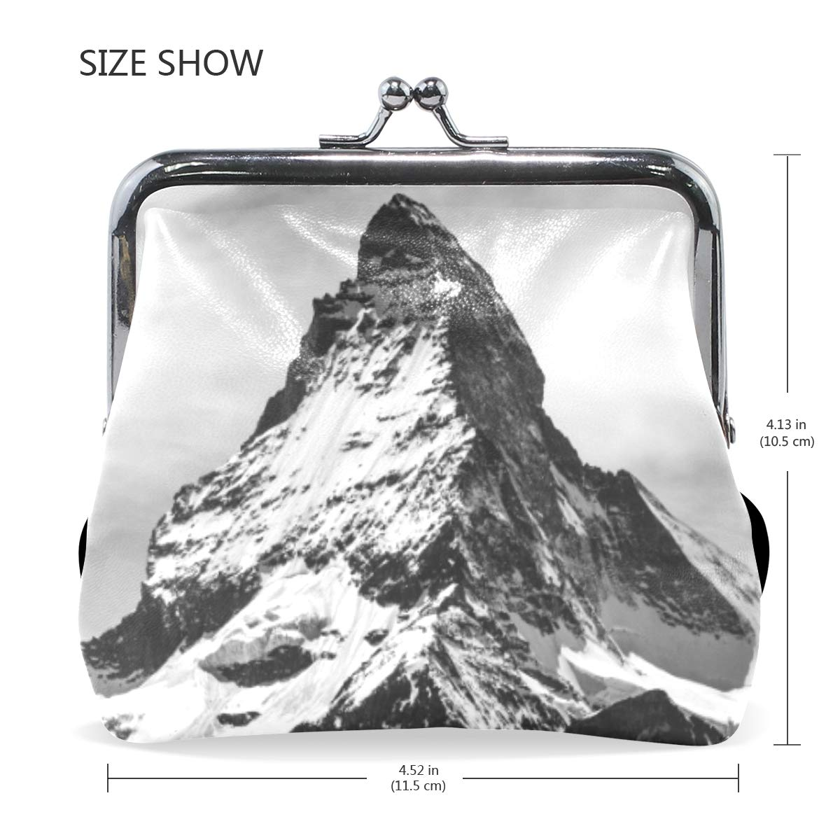 CLveg Coin Purse Card Package Coin Leather for Women Printing Series Swiss Mountain
