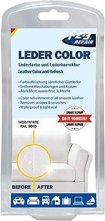 1 2 3 Repair 123repair Lederfarbe Für Leder Lederpflege Tasche Schuh Färben Weiß Küche Haushalt