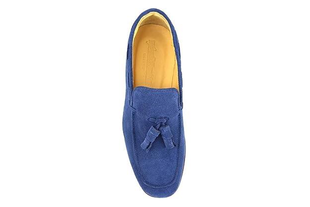 Chaussures Homme Le Vivaldi Mocassins Bleu Daim Am760 9Usyf