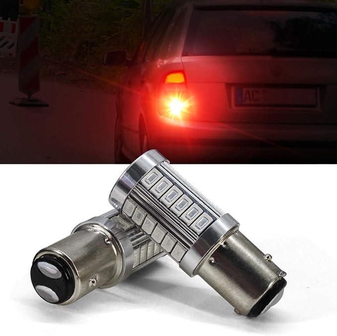1157 LED Bombilla Luz de freno BAY15D P21 / 5W 1016 1034 1196 7528 2057 2357 94 3014 Luces de señal de giro de estacionamiento en reversa de automóvil con proyector 12V