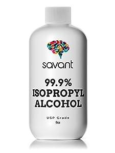 Savant 8oz USP Grade 99% Isopropyl Alcohol