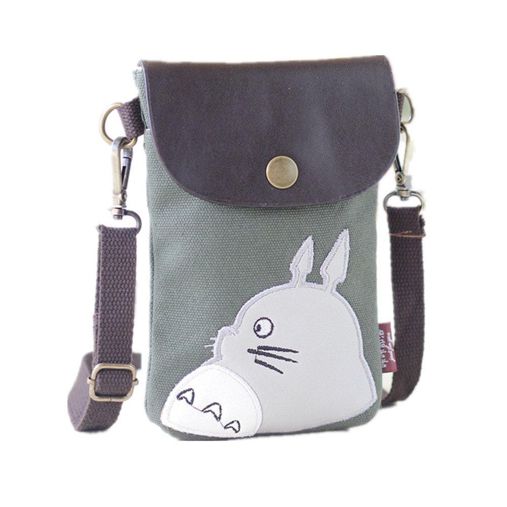 My Neighbor Totoro Sacs bandoulière toile petit mignon portefeuille cellulaire sac téléphone sac à main avec bandoulière porte-monnaie