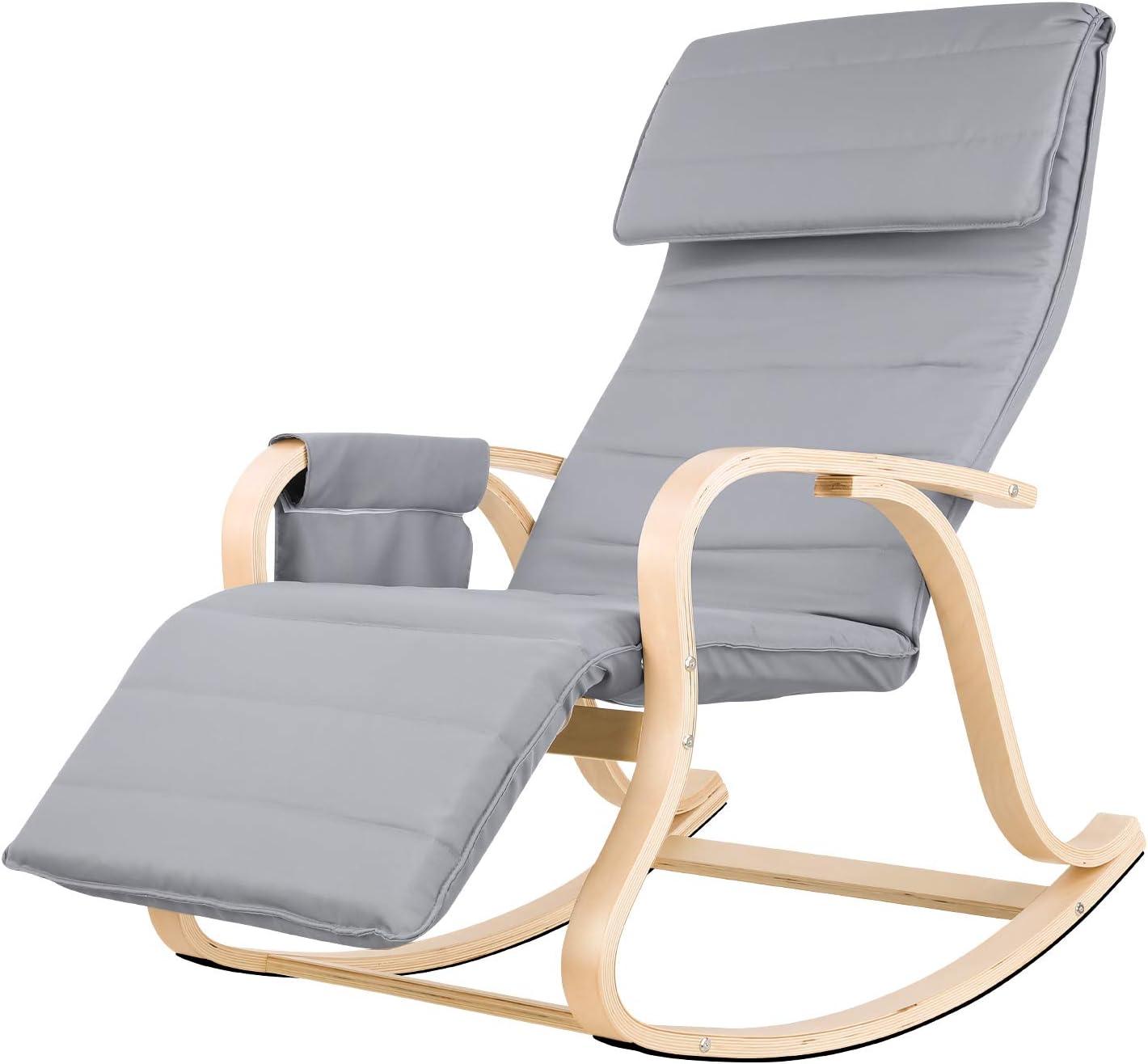 Homfa Fauteuil à Bascule Chaise à Bascule Chaise berçante