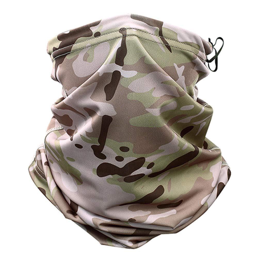 AIMICONG Braga Cuello Camuflaje Tactical Neck Polainas Tubo Protector Facial Sol Militar Ej/ército Ciclismo Senderismo Camping Bufanda Bandana M/áscara
