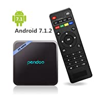 Android 7.1 TV Box,Pendoo X8 Mini 2GB+16GB Android Box Quad Core 64 Bits 2.4G WIFI H.265 4K (60Hz) Full HD TV Box