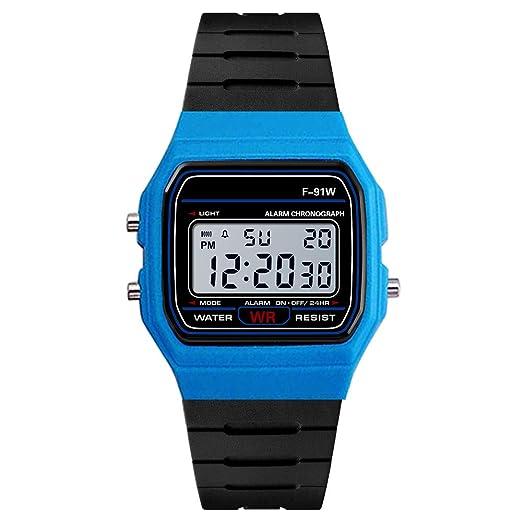 VEHOME Reloj electrónico Deportivo 91-BK-Relojes relojero Inteligente Reloj reloje hombresRelojes de Pulsera