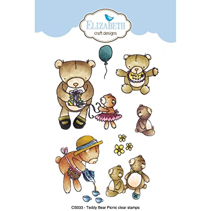 Amazoncom Teddy Bear Picnic Clear Stamps Arts Crafts Sewing