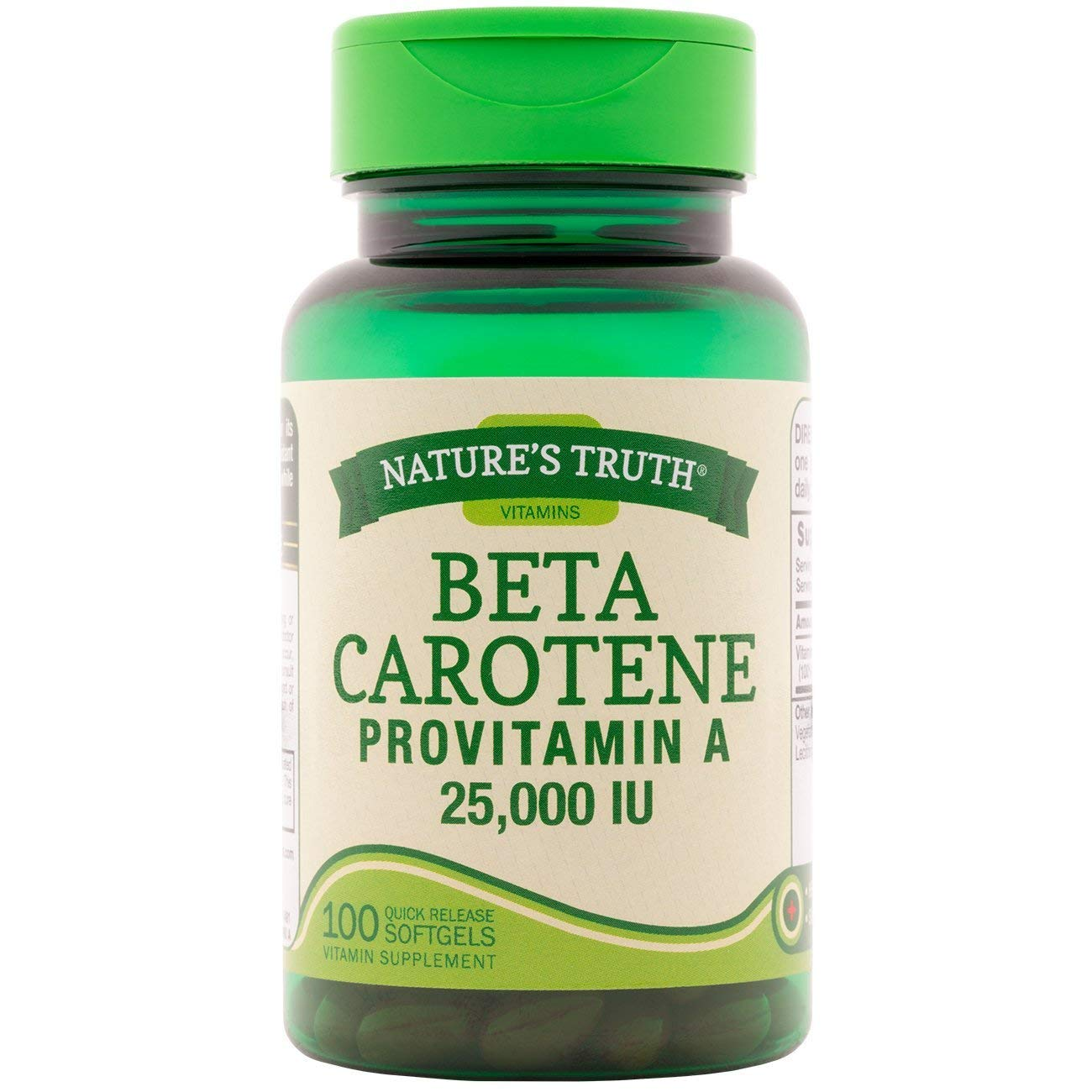 Nature's Truth Beta Carotene 25,000 IU Vitamin Supplement - 100 Softgels, Pack of 6 by Nature's Truth