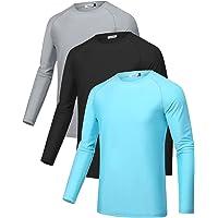Sykooria 3 Piezas Camisetas Manga Larga Hombre Deporte UPF 50+ Protección Solar UV,Secado Rápid Top Transpirable Shirt…