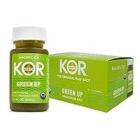 KOR Shots Wheatgrass Ginger Spirulina Shot - 12 Pack x 1.7 Fl Oz - Green Up Shot...