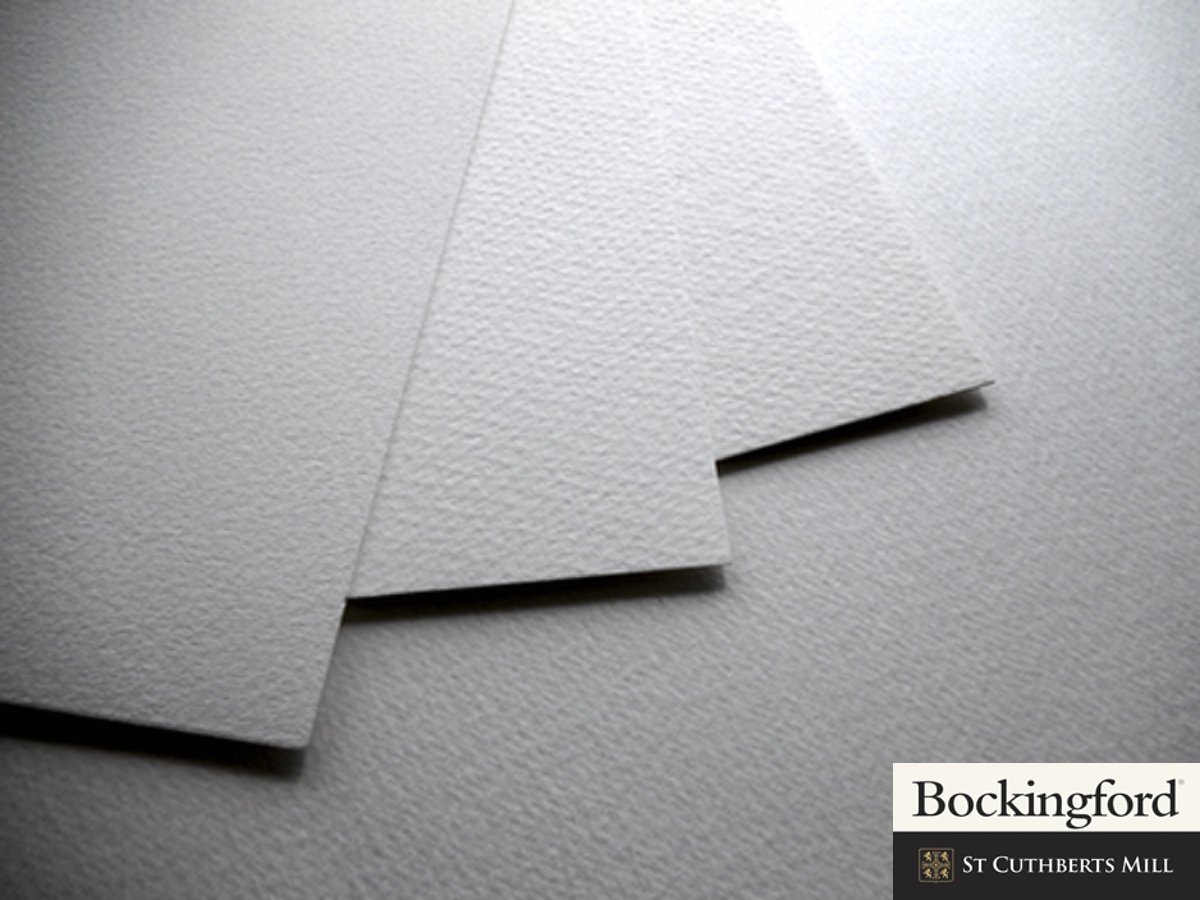 25 sheet pack of 300gsm 1 4 Imperial Bockingford Watercolour Paper, NOT