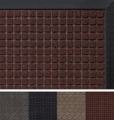"The Original GORILLA GRIP Non-Slip Durable All-Natural Rubber, Indoor Outdoor Large 29""x17"" Door Mat, Waterproof, Low-Profile, Easy-To-Clean, Beautiful Colors and Patterns (Brown: - Color Door Mat"