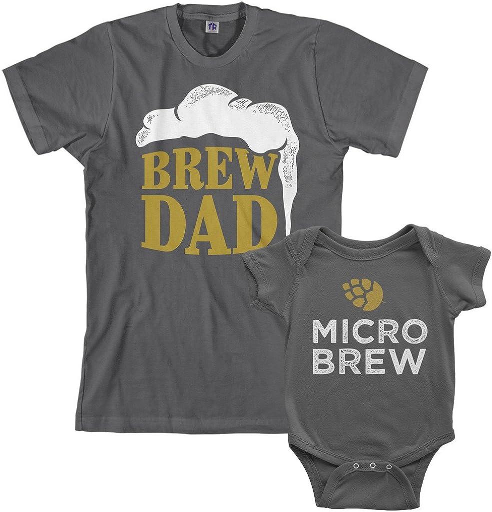 Threadrock Brew Dad & Micro Brew Infant Bodysuit & Men's T-Shirt Matching Set
