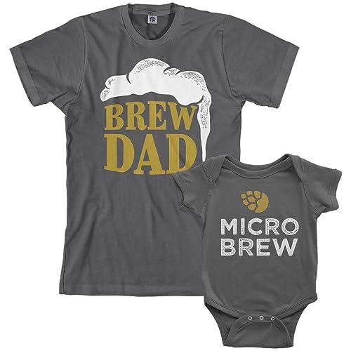 Threadrock Brew Dad Micro Infant Bodysuit Mens T Shirt