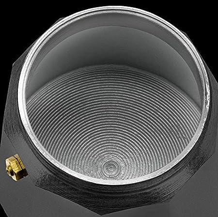Monix Vitro Rock-Cafetera Italiana de Aluminio, 3 Tazas, 9 cm